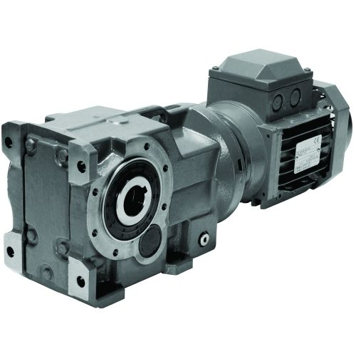 bevel gear-motor / helical / right-angle
