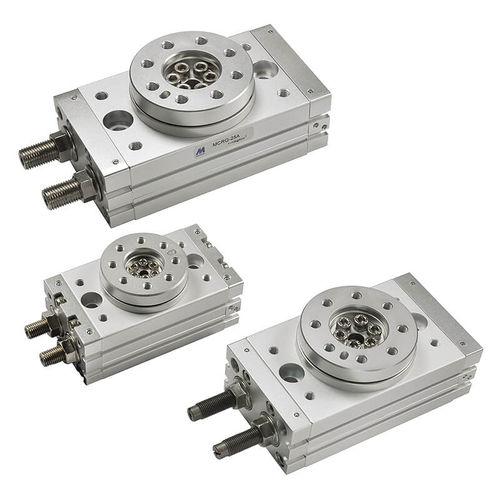 rotary actuator / pneumatic / double-acting / screw