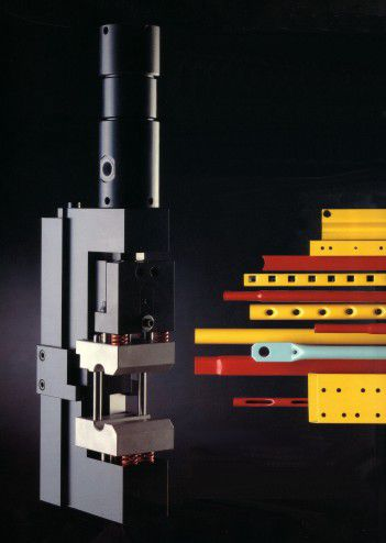 semi-automatic punching unit / hydraulic / for pipes