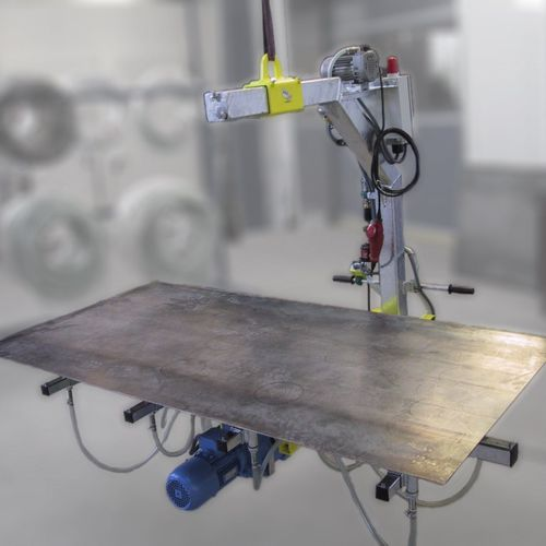 glass plate vacuum lifting device / for sheet metal / for wooden sheets / electric