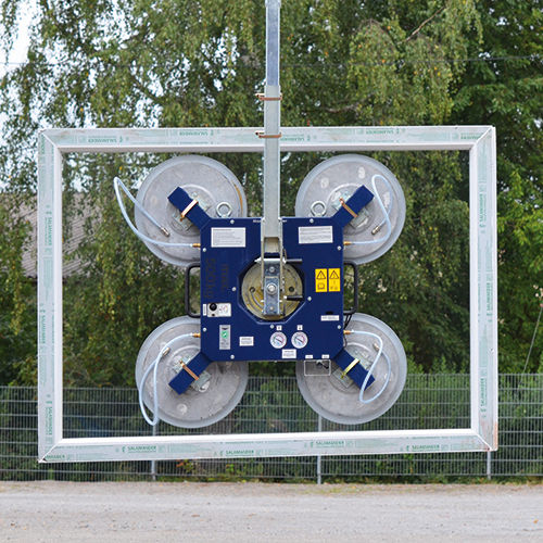 glass plate vacuum lifting device / for the construction industry / electric / horizontal