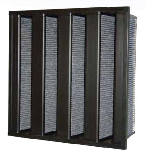 air filter / activated carbon / pleated / high-efficiency