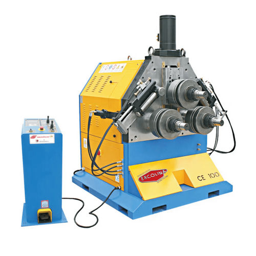 electro-hydraulic bending machine / for tubes / bar / pyramid type