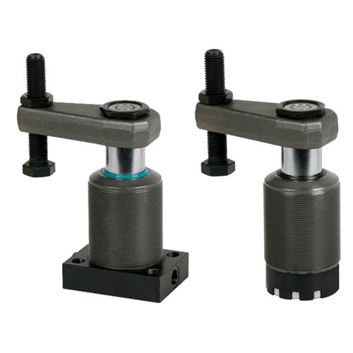 hydraulic clamp / swing / double-acting / flanged