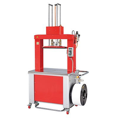 automatic strapping machine / coil / high-speed / with press