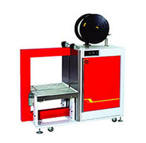 fully-automatic strapping machine / for bricks / vertical