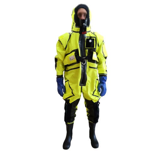 work coveralls / chemical protection / waterproof / high-visibility