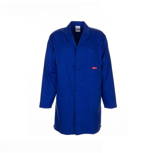 work lab coat / cotton / polyester / blue