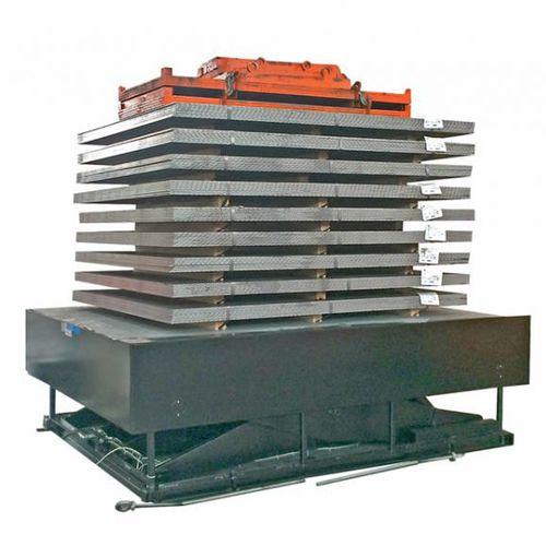 scissor lift table / hydraulic / stationary / for heavy loads