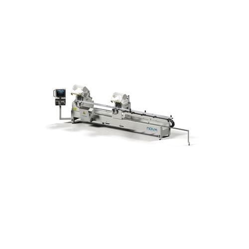 metal double-miter saw / for plastics / for wood / CNC