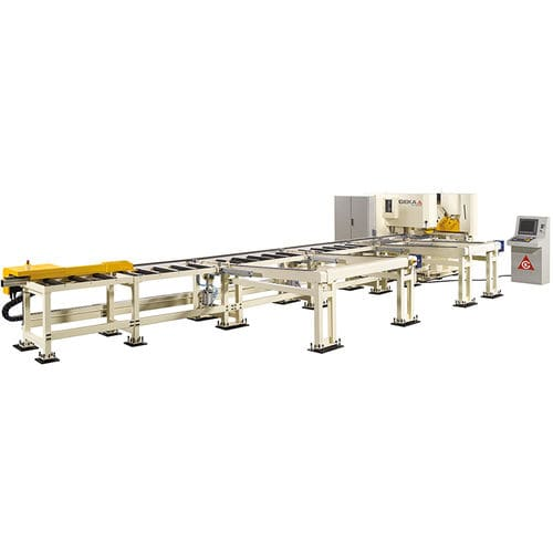 CNC punching line / hydraulic / bar / shearing