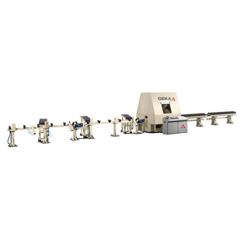 CNC punching line / for angle pieces / shearing / marking