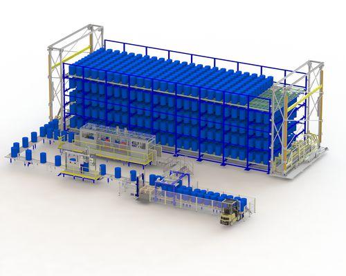 automatic drum storage system