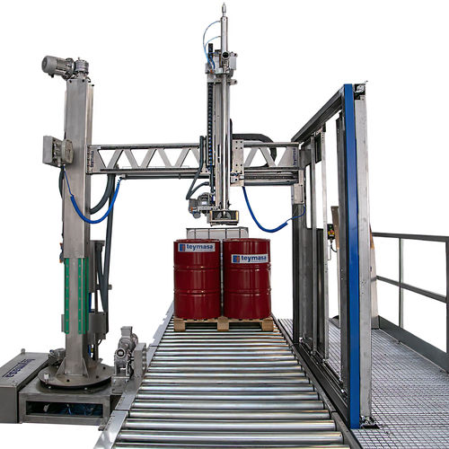 filling station for the chemical industry / IBC / pallet drum / automatic