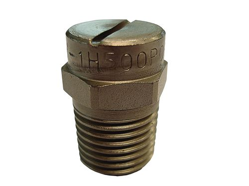 spray nozzle / for liquids / flat spray / stainless steel