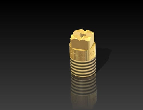 spray nozzle / cooling / washing / for liquids