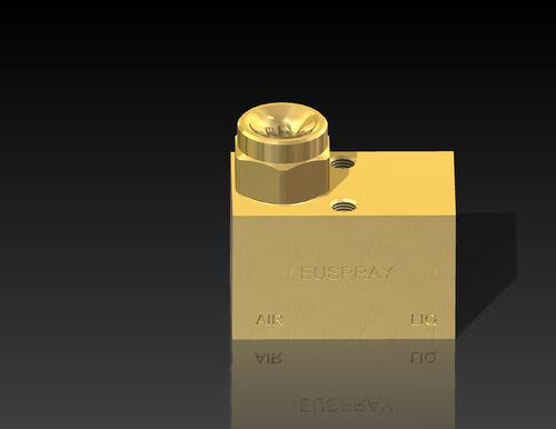 spray atomizing nozzle / compressed air / for liquids / full-cone