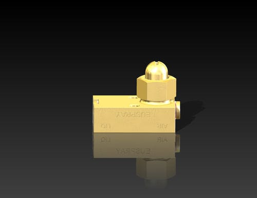 spray atomizing nozzle / compressed air / for liquids / flat spray