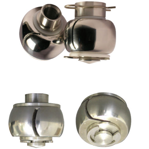 spray nozzle / cleaning / PTFE / stainless steel