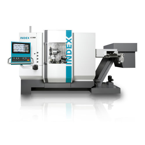 CNC milling-turning center / horizontal / spindle / compact