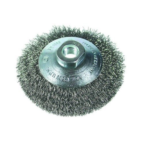 knotted wheel brush / deburring / stainless steel / crimped
