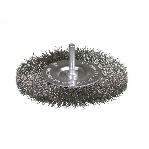 knotted wheel brush / deburring / steel / crimped