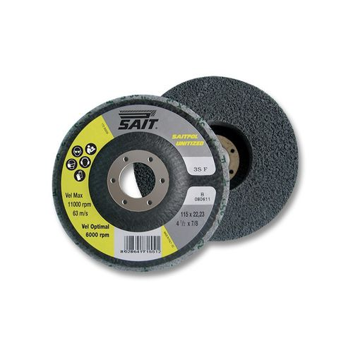 finishing abrasive disc / cleaning / for metal / non-woven