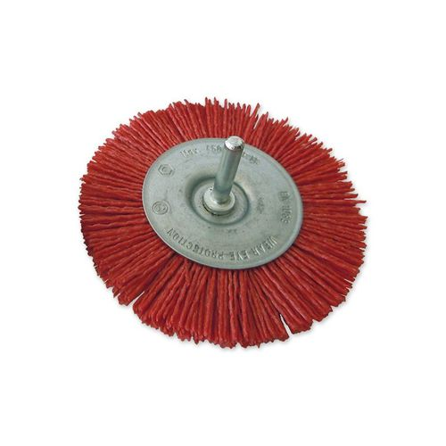 knotted wheel brush / cleaning / nylon / silicon carbide