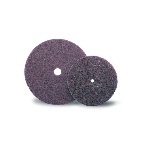 synthetic fiber abrasive disc / for finishing / for wood / non-woven