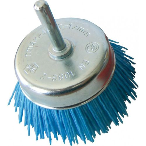 cup brush / cleaning / nylon / silicon carbide