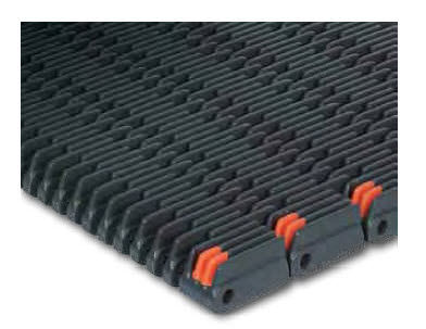 raised-rib conveyor belt / modular / polypropylene / high-resistance