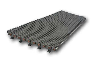 modular conveyor belt / plastic / high-resistance / for heavy loads