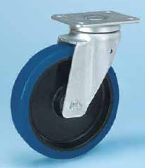 wheel with solid tire / rubber / non-marking