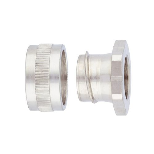screw-in fitting / straight / hydraulic / nickel-plated brass