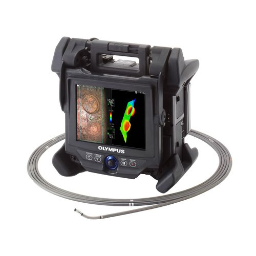 flexible videoscope / portable / articulated / LCD display
