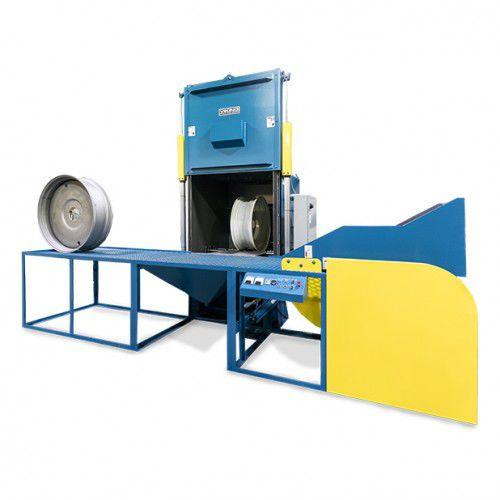 manual shot blasting machine / for wheel rims