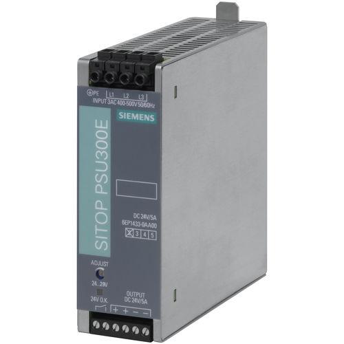 AC/DC power supply / wide input range / DIN rail / three-phase