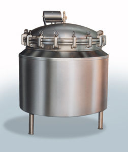 process autoclave / vertical / for the food industry