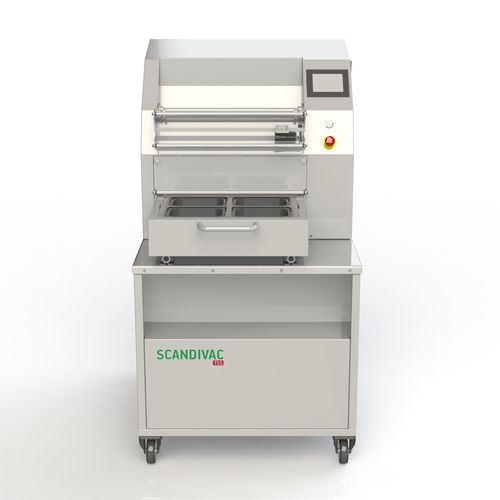 linear array tray sealer / semi-automatic / for the food industry / medical