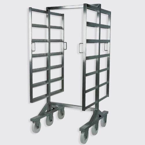 transport trolley / stainless steel / with swivel casters / for smokehouses