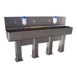 sink for the food industry / hand washing / stainless steel / wall-mount