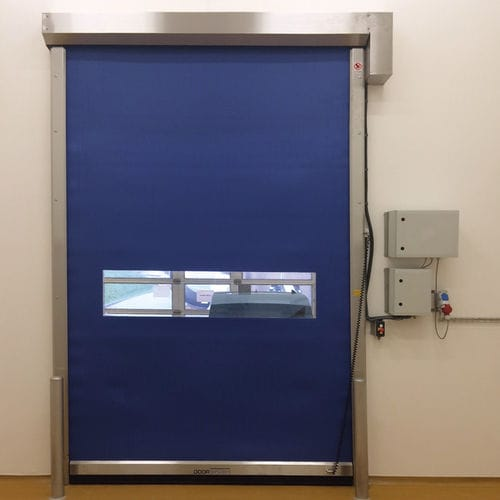 roll-up door / fabric / for the food industry / for hygienic applications