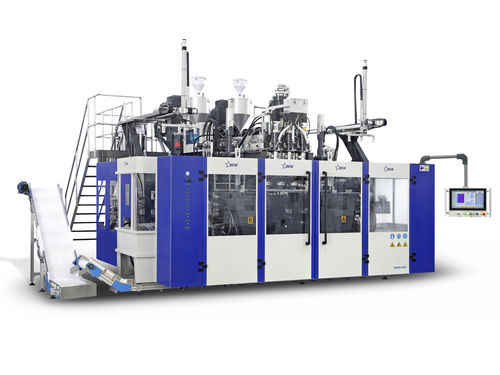 bottle blow molding machine / extrusion / for containers with handles / twin-station