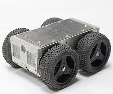 wheeled inspection robot / remote-controlled / capture / for pipes