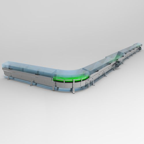 chain conveyor / magnetic belt / for the food industry / for the pharmaceutical industry