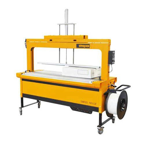 fully-automatic strapping machine / for cartons / for boards / for production lines