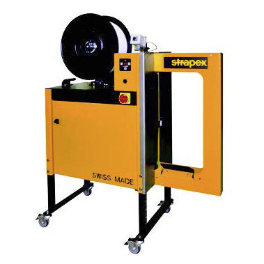 automatic strapping machine / package / for small workpieces / lateral