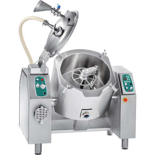 meat industrial cooker / vacuum / with mixer / automatic