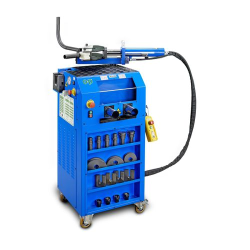 stationary bending unit / hydraulic / for tubes / mobile