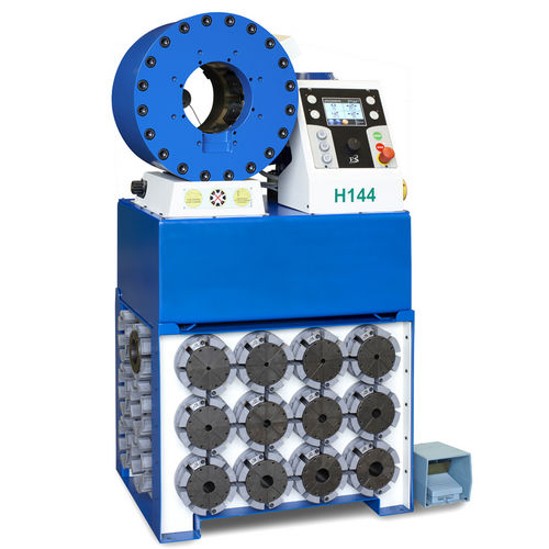 pipe crimping machine / for hoses / automatic / hydraulic